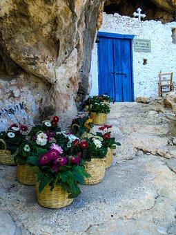Cyprus, Church, Inside A Cave
