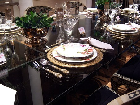 Dining Table, Dinner, Appliance Of Dinner, Dishes