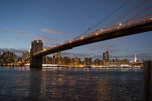 Brooklyn Bridge, Manhattan, Downtown, Nyc, New York