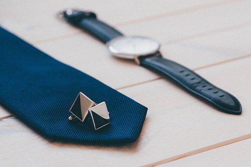 Cufflinks, Tie, Watch, Fashion, Accessories