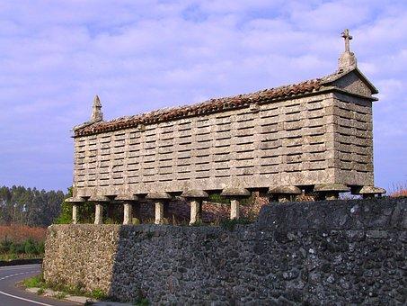 Galician Horreo, Hórreo, Horrio, Corn And Wheat Barn