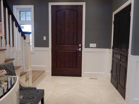 Foyer, Door, Front Door, Entrance, Home, House