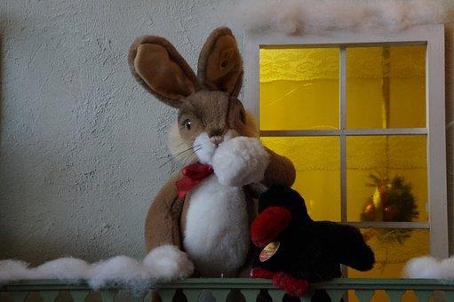 Winter, Hare, Home, Illuminated, Lighting, Christmas