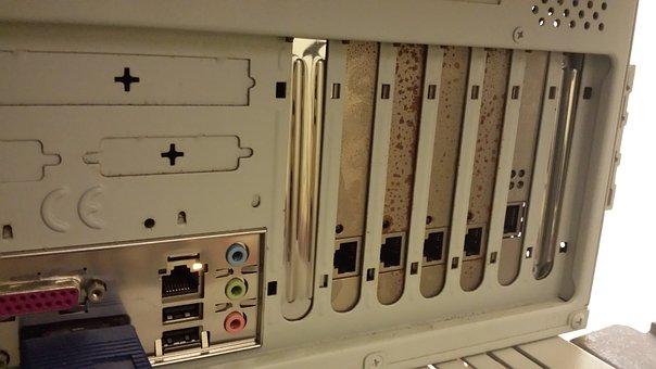 Rusty Box, Computer, Metal