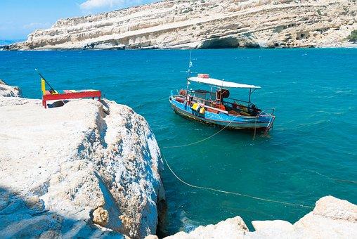 Crete, Matala, Sea, Color, Water, Nature, Landscape