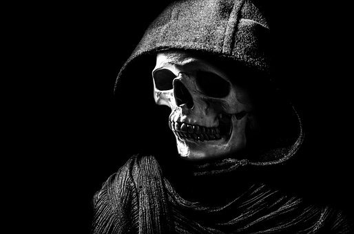 Skull, Halloween, People, Mask, Dummy, Hood, Scary