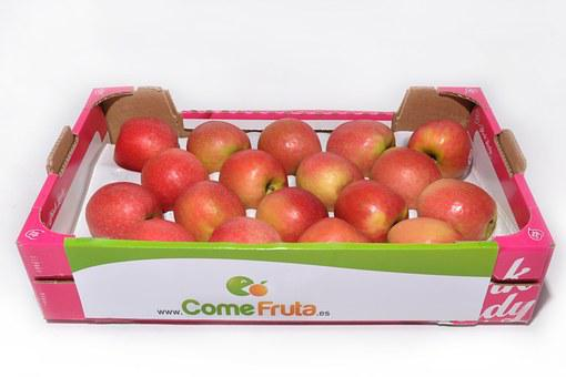 Apple, Pink Lady, Box Of Apples