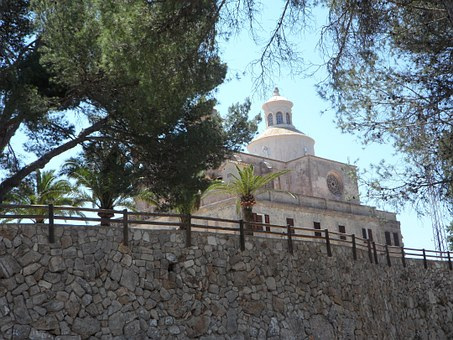 Randa, Place Of Pilgrimage, Church, Mediterranean