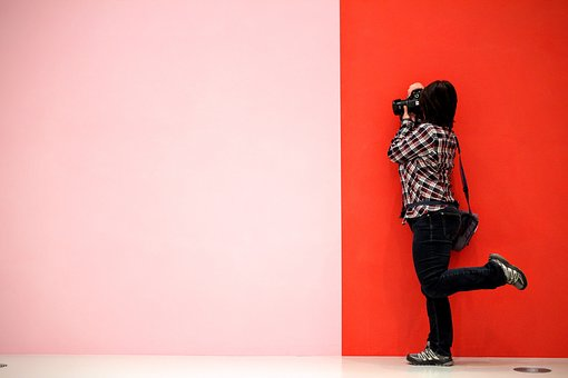 Pink-red, Lines, Photographer, Poznan, Art Gallery