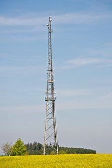 Radio Tower, Radio Mast, Transmission Tower, Sky