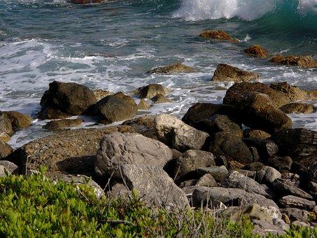 Sea, Stones, Rock, Crete, Agia Galini