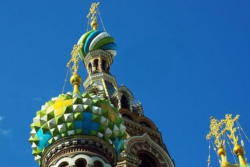 Russia, St Petersburg, Church, Savior On Blood, Bulbs