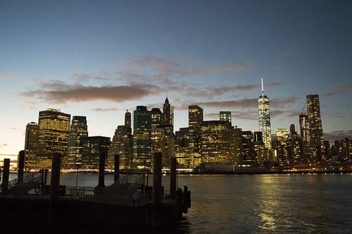 Manhattan, Downtown, Nyc, New York, Skyline, America