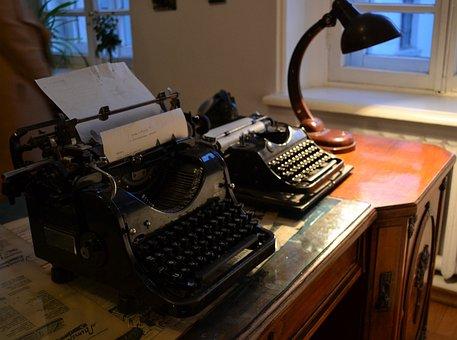 Interior, Museum, Typewriter, Moscow, Bulgakov