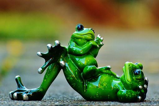 Mom And Child, Frogs, Funny, Cute, Frog, Figure, Animal