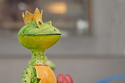Frog, Statue, Frog Prince, Heart, Fig, Art, Metal