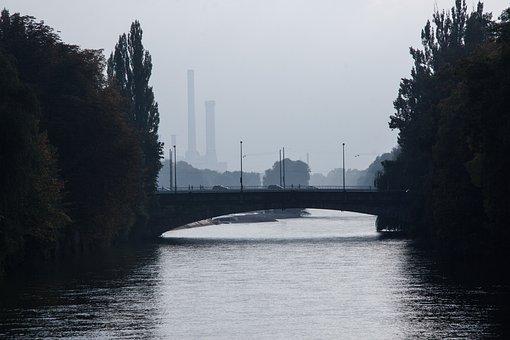 Fog, Bridge, Heat And Power Plant, District Heating