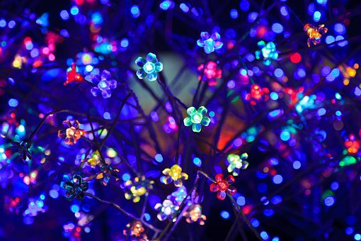 Abstract, Blue, Bright, Christmas, Color, Colored