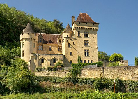 Dordogne, France, Malartrie Castle, Palace, Building
