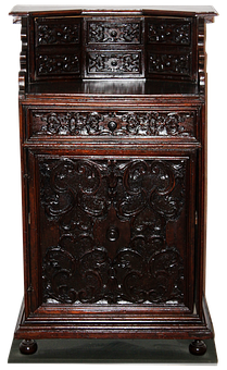 Chest Of Drawers, Old, Wood, Carving, Carved Furniture