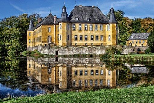 Juchen, Germany, Dyck Castle, Building, Landmark
