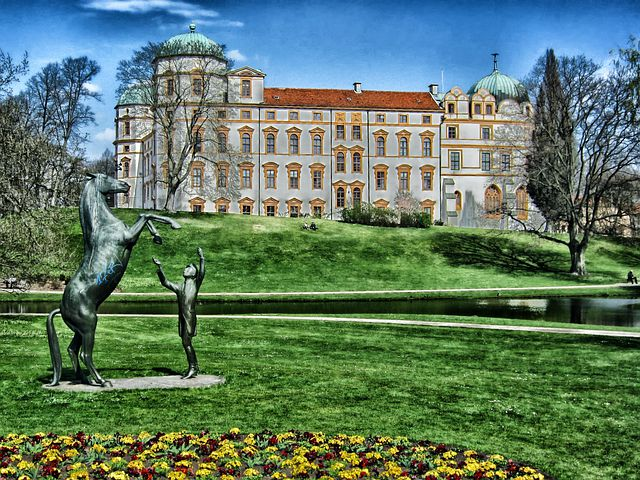 Celle Castle, Germany, Building, Architecture, Trees