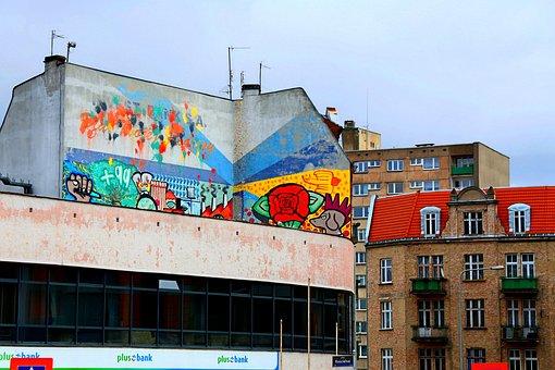 Murals, In Jeżyce Poznań, Apartment Poznań