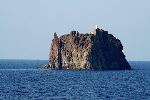 Kleiner, Stromboli, Volcano, Sea, Island, Summer, Water