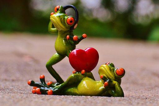 Frogs, Love, Headphones, Music, Valentine's Dance, Pose