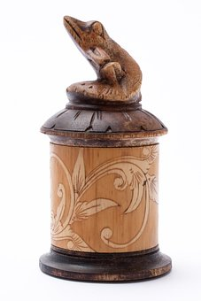 Vessel, Bamboo, Painted, Decorative, Old, Craft