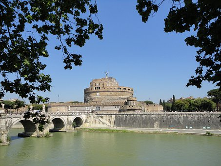 Rome, Italy, Castle, Sant'anglo, Landmark, Destinations