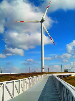Hamburg-wihelmsburg, Germany, Windmill, Turbine