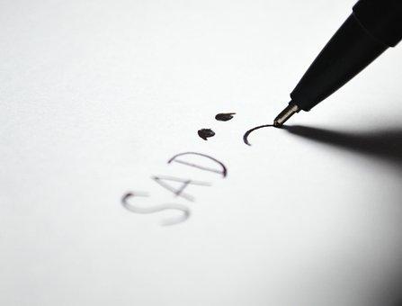 Sad, Icon, Symbol, Word, Face, Write, Draw, Sadness