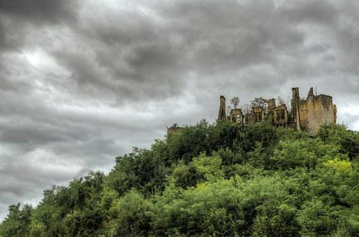 Castle, Ruins, Medieval, Old, Abandonded, Destroyed