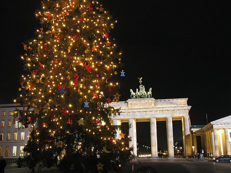 Berlin, Brandenburg Gate, Berlin At Night, Advent