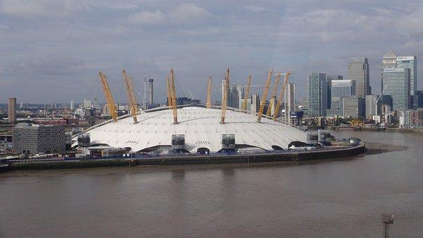 Arena, Building, Architecture, O2 Arena, River, Thames