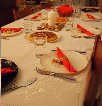 Table, Christmas, Cutlery, Tortilla, Celebration