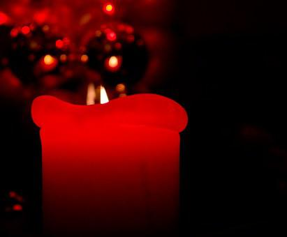 Christmas, Candle, Red, Deco