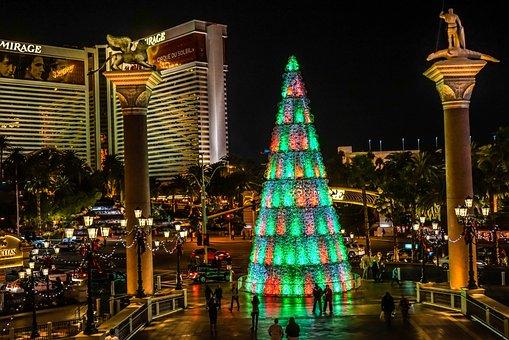 Las Vegas, Christmas Tree, Architecture, Building