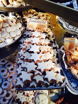Cinnamon Stars, Cookie, Christmas, Pastries, Sweet