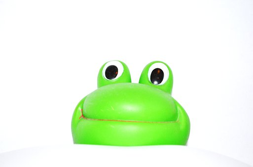 Frog, Happy, Green, Plastic, Decorations, Greeting