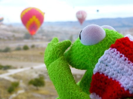 Kermit, Frog, Go Balloon, Marvel, Colorful