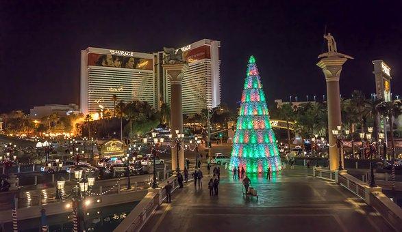 Venetian, Las Vegas, Christmas Tree, Illuminated