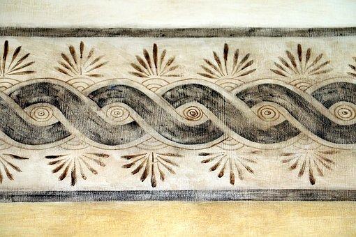 Moroccan, Mural, Wall, Design, Morocco, Architecture