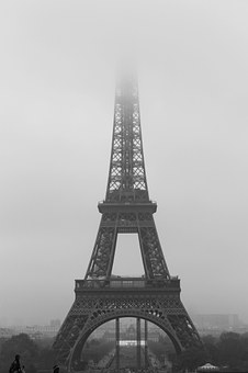 Paris, Eiffel Tower, Fog, November, France