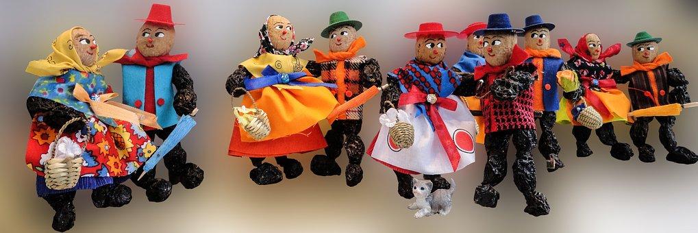 Males, Dolls, Plum Men, Christmas Market
