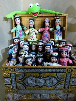 Dolls, Hand Puppets, Puppet Theatre, Kermit, Frog