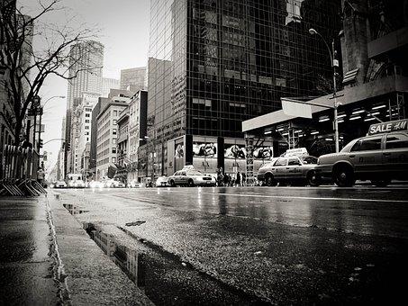 New York, Rain, Taxi