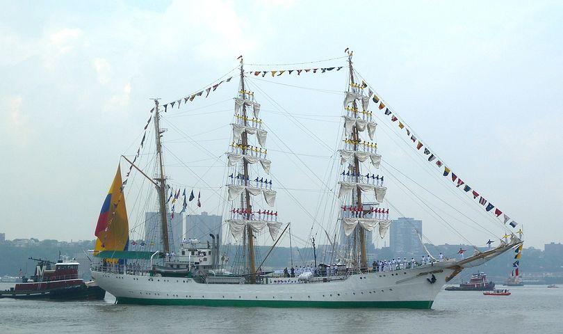 New York City, Ship, Sailing, Vessel, Men, Sailors