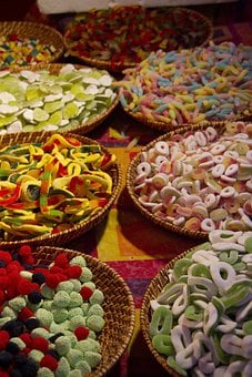 Sweets, Colorful, Sweet, Red, Yellow, Green, Pink